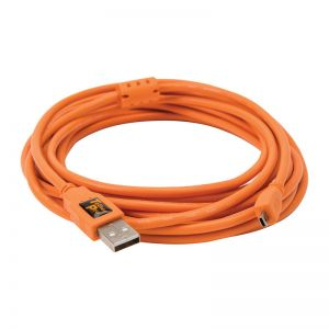 Tether Tools TetherPro USB 2.0 A to Mini-B 8 pin 4.6m Oranje