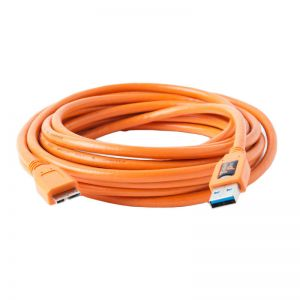 Tether Tools TetherPro USB 3.0 Male to Micro-B 4.6m Oranje