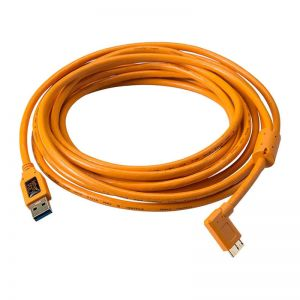 Tether Tools TetherPro USB 3.0 A Male to Micro-B Right Angle 4.6m Oranje