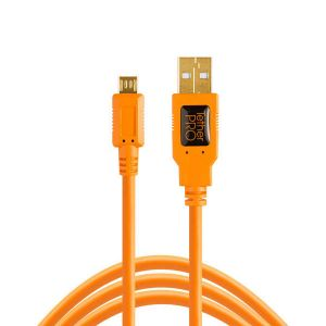 Tether Tools TetherPro USB 2.0 Male to Micro-B 4.6m Oranje