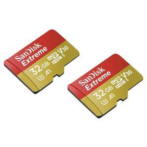 SanDisk MicroSDHC Extreme 32GB 100mb / 60mb,V30,A1 2p AC