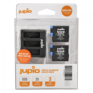 Jupio Triple Charger Value Pack Voor Gopro hero 8