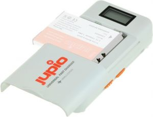 Jupio Universal Li-Ion - AA + 2.1A USB Fast Charger LCD v.