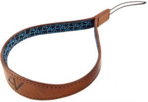 4V Design Watch Medium Wrist Strap Tuscany Leather Brown/Cyan