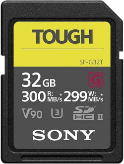 Sony ProSD Tough 18x stronger - 32GB UHS-II R300 W299 - V90