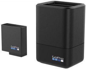 GoPro Dual Charger + Batterie AADBD-001 Dubbele oplader Geschikt voor: GoPro Hero 5,6 en 7
