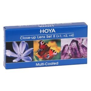 Hoya Close-Up Lens Set 55mm (+1,+2,+4)