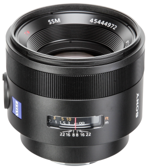 Sony SAL 50mm/f1.4 Carl Zeiss met Gratis Sony LA-EA5