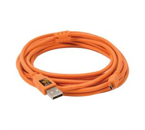 Tether Tools TetherPro USB 2.0 A to Mini-B 8 pin 4.6m Oranje