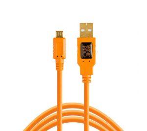 Tether Tools TetherPro USB 2.0 Male to Micro-B 4.6m Oranje