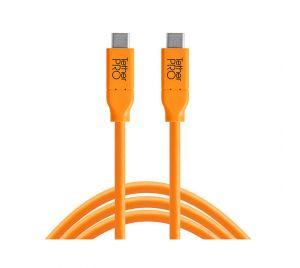 Tether Tools TetherPro USB-C naar USB-C 4.6m kabel Oranje